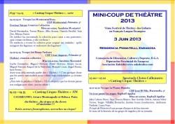 programa mano Mini-Coup de Théâtre 2012 verso