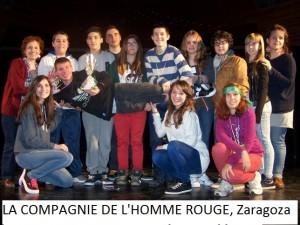 LA COMPAGNIE DE L'HOMME ROUGE, LYCÉE J. ZURITA, ZARAGOZA